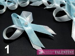 svadobné pierko bielo modré