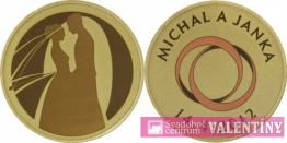 svadobná  pamätná minca