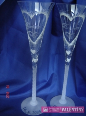 Svadobné poháre maľované