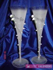 Svadobné poháre matné