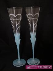 Svadobné poháre 3D dekor