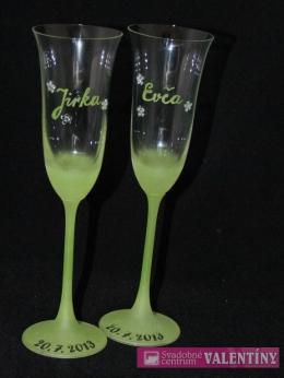 Svadobné poháre zvončekové
