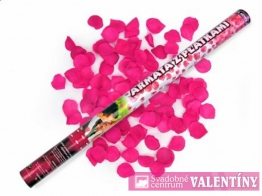 vystrelovacie konfety ružové 60cm