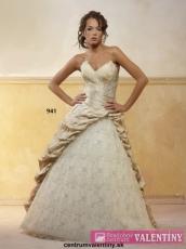 svadobné šaty Snehová kráľovná BIELE