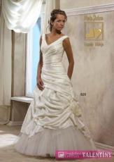 svadobné šaty Lujza krémové