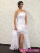 svadobné sexi šaty biele