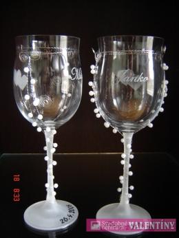 Svadobné  poháre zdobené