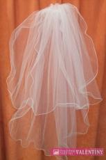svadobný závoj 75cm ivory