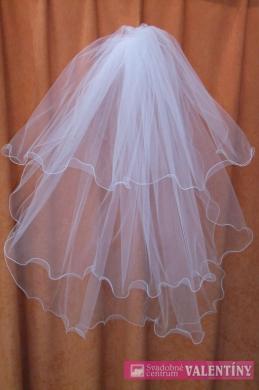 svadobný závoj 80cm biely