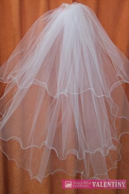 svadobný závoj 80cm ivory