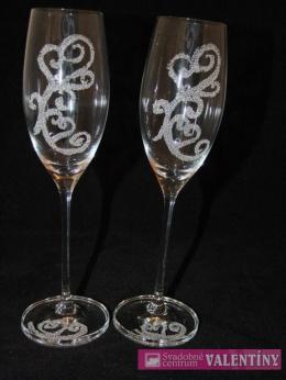 Svadobné poháre  elegantný vzor