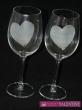 Svadobné poháre víno