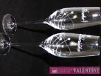Elegantnésvadobné poháre špirálka 3 swarovské kamienky
