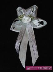 svadobné pierko bielo strieborné
