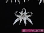 svadobné pierko biele strieborný kvet malý