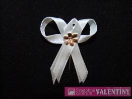 svadobné pierko biele kvet zlatý