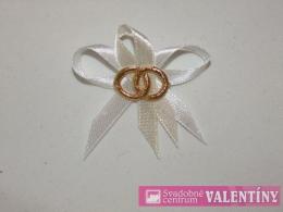 svadobné pierko bielo krémové zlaté obrúčky