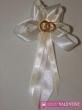 svadobné pierko bielo krémové obrúčky zlaté