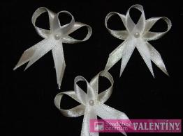 svadobné pierko saténové biele