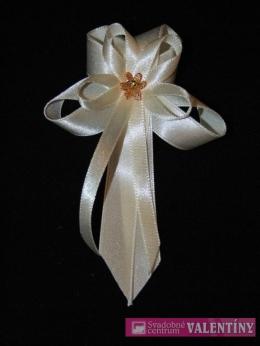 svadobné pierko  krémové kvetinka malá zlatá