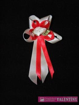 svadobné pierko bielo červené