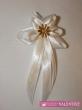 svadobné pierko bielo krémové veľký zlatý kvet