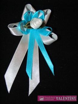 svadobné pierko bielo tyrkysové