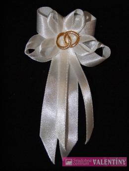svadobné pierko biele obrúčky zlaté