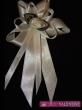 svadobné pierko krémovo biele