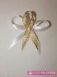 svadobné pierko bielo zlaté
