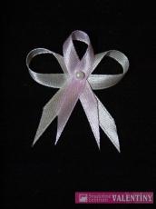 svadobné pierko bielo fialové-lila