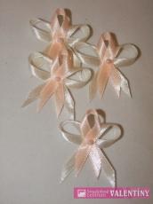 svadobné pierko krémovo marhuľové