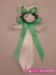 svadobné pierko bielo zelená jablková