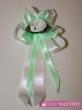 svadobné pierko bielo zelená pistácia