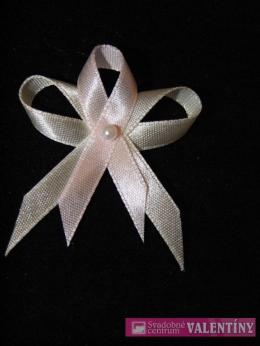 svadobné pierko krémovo ružové