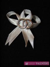 svadobné pierko biele obrúčky strieborné