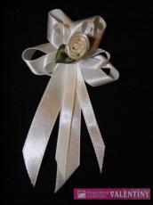 svadobné pierko biele kvietok so zlatým lemovaním