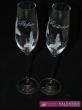 Motýlové poháre so swarovského krištáľmi