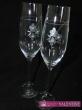 Elegantné poháre s kvetmi použité swarovské komponenti