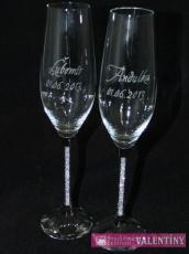 Exkluzívne poháre s krištáľmi v nožičke