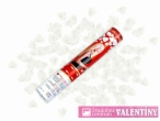 vystrelovacie konfety biele srdcia cena za 3kusy