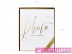 fotoalbum biely  zlatý nápis