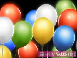 Led svietiace balóny 5ks v balení farebné