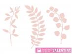 Ozdobné vetvičky  pudrová ružová sada 9ks