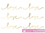Dekorácia Love zlatá