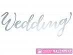 Dekorácia strieborná WEDDING
