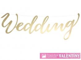 Dekorácia zlatá WEDDING
