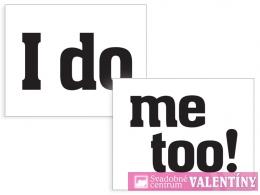 nálepky na topánky ,,I do,, Me too,,