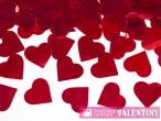 vystrelovacie konfety srdiečka červené 60cm 3kusy