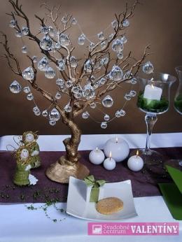 Dekoračný stromček zlatý